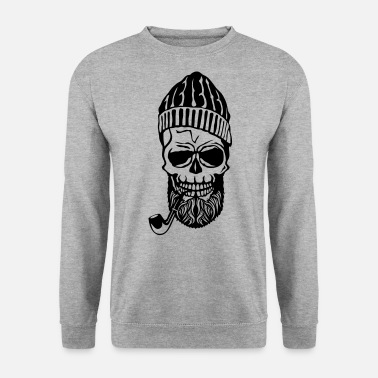Barbu tete de mort hipster bonnet barbu pipe 7 - Sweat-shirt Homme