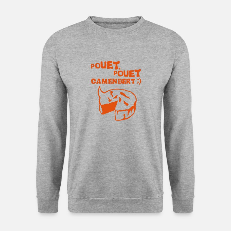 Fromage Sweat-shirts - pouet pouet camembert expression fromage Tee shirts - Sweat-shirt Homme gris chiné