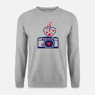 Appareil appareil photo coeur - Sweat-shirt Homme