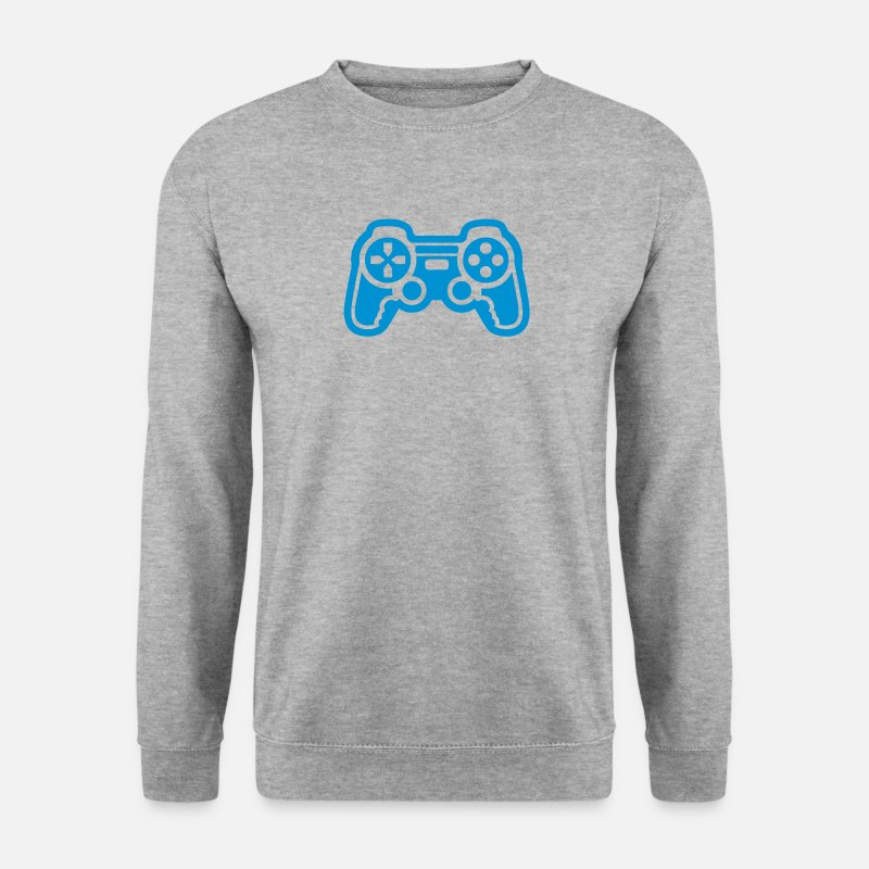 Geek Sweat-shirts - manette jeux video geek game 912 - Sweat-shirt Homme gris chiné