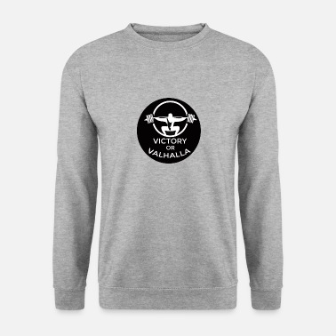 Powerlifting VictoryValhalla6 powerlifting fitness bodybuilding - Men's Sweatshirt