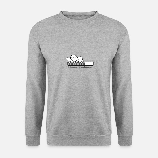 Naissance Sweat-shirts - bebe telechargement - Sweat-shirt Homme gris chiné
