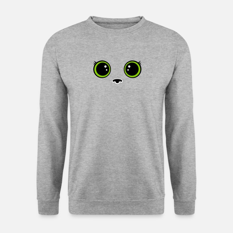 Cat Eyes Hoodies & Sweatshirts - Kitten - Men's Sweatshirt salt & pepper