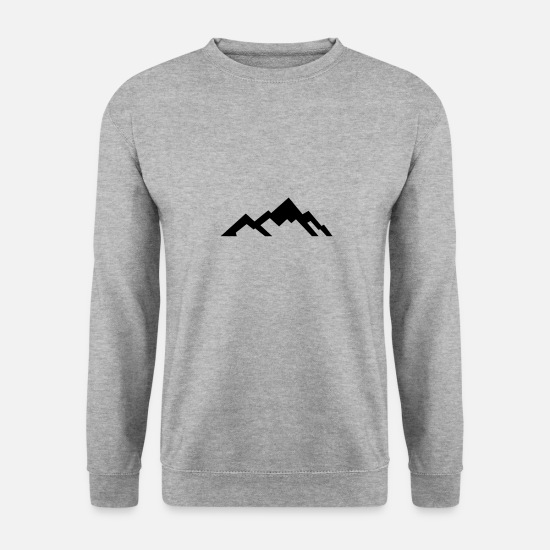 Grimpeur Sweat-shirts - Montagnes - Montagnes - Sweat-shirt Homme gris chiné