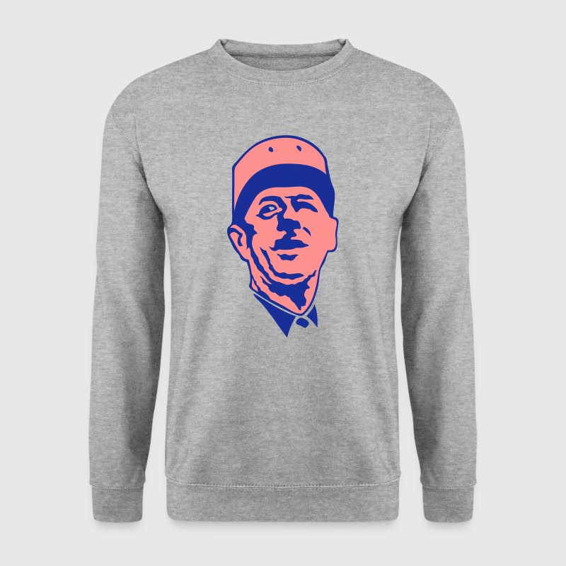 general de gaulle visage leader politiqu - Sweat-shirt Homme