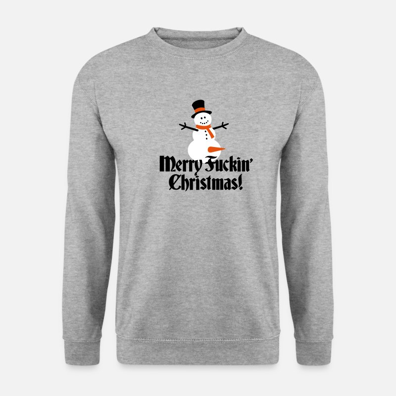 Christmas Hoodies & Sweatshirts - Merry fuckin'/ fucking Christmas - Men's Sweatshirt salt & pepper