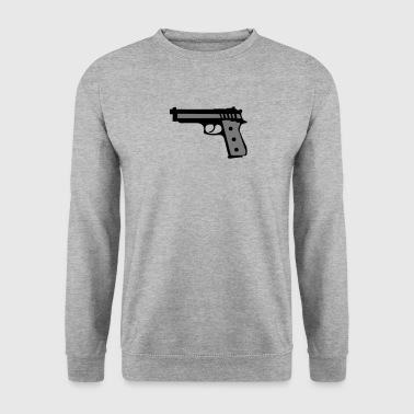 revolver pistolet flingue 2012 - Sweat-shirt Homme