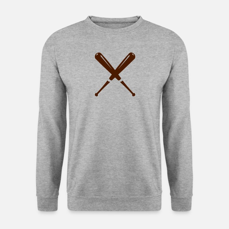 Baseball Hoodies & Sweatshirts - Baseball bat double cross 22042 - Men's Sweatshirt salt & pepper