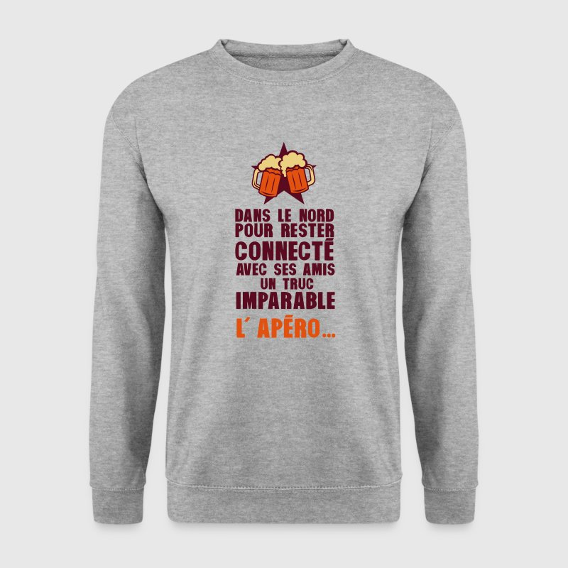 nord connecte amis apero alcool humour - Sweat-shirt Homme