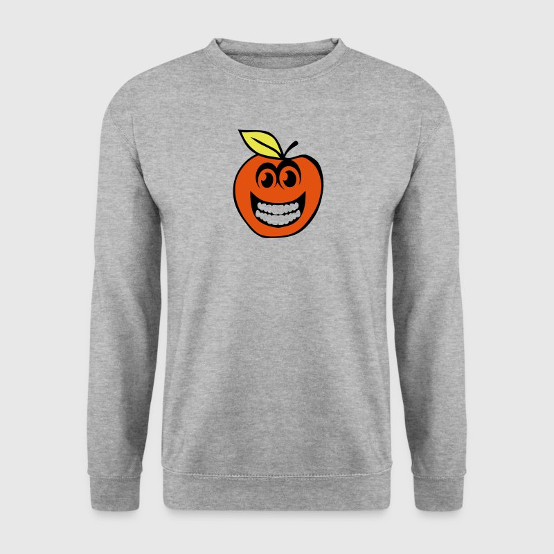 peche smiley sourire fruit 1 - Sweat-shirt Homme