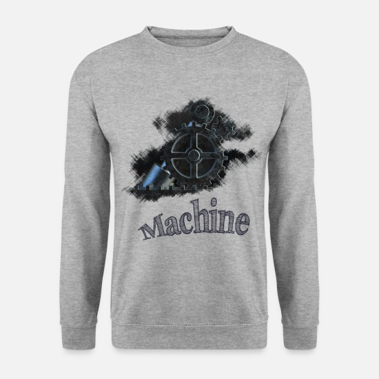 Robot Sweat-shirts - machine - Sweat-shirt Homme gris chiné