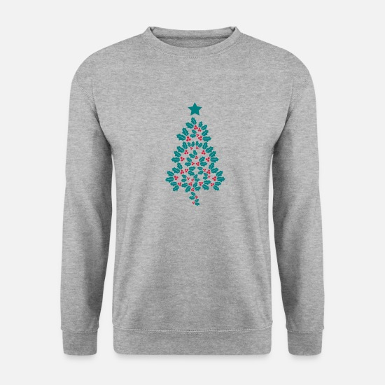 Christmas Hoodies & Sweatshirts - Holly Christmas Tree - Unisex Sweatshirt salt & pepper
