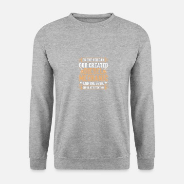 Gas Meme Diesel Design Quote Created Diesel Mechanic - Unisex Pullover