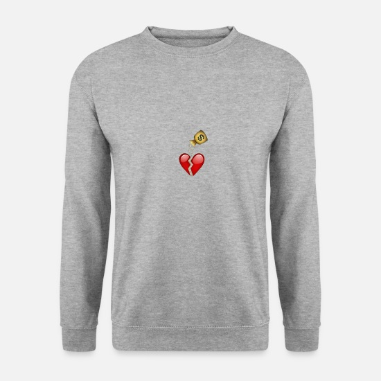 Soccer Sweat-shirts - Coeur briser l'argent - Sweat-shirt Homme gris chiné