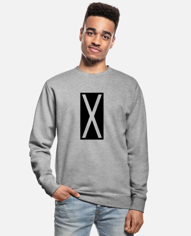 Geometry Hoodies & Sweatshirts - Rectangle X - Unisex Sweatshirt salt & pepper