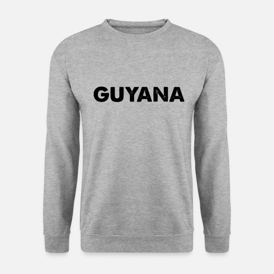 S'aimer Sweat-shirts - Guyane nationale fierté patrie - Sweat-shirt Homme gris chiné