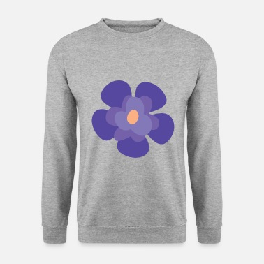 Animal Collection Flower Violet Iris - Men's Sweatshirt