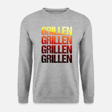 Grillmaster Barbecue TShirt Grillmeister barbecue season gift - Men's Sweatshirt