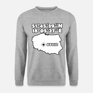 Geographic Geographical coordinates of Kalisz - Unisex Sweatshirt