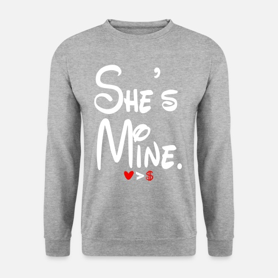 Couples Hoodies & Sweatshirts - shes_mine - Men's Sweatshirt salt & pepper