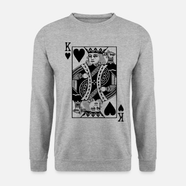 Jeu Jeu de cartes Heart King - Sweat-shirt Homme