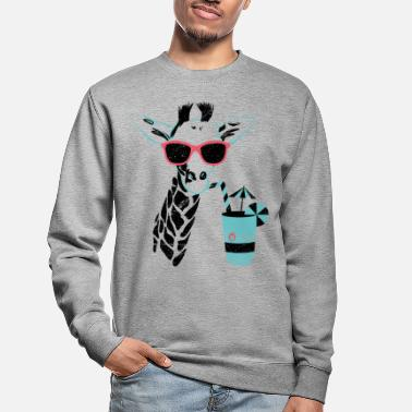 Cocktail Animal Planet Africa Giraffe With Cocktail - Unisex Sweatshirt