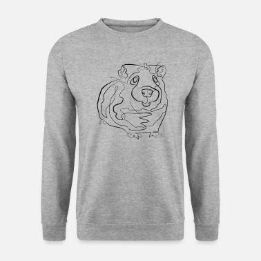 Drawing Guinea pig - one line drawing - Men's Sweatshirt