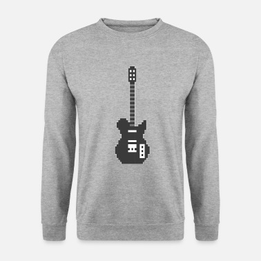 Rock And Roll Pixel E Guitar Player Guitarist Gamer Gift - Felpa uomo