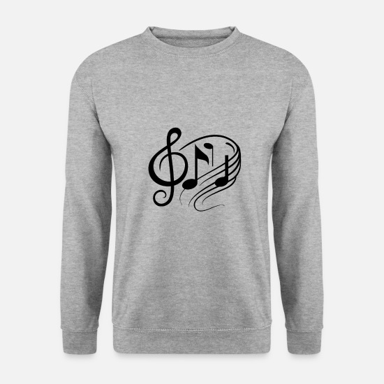 Music Hoodies & Sweatshirts - Sheet Music - Sheet Music Musicians Music Enthusiasts - Men's Sweatshirt salt & pepper
