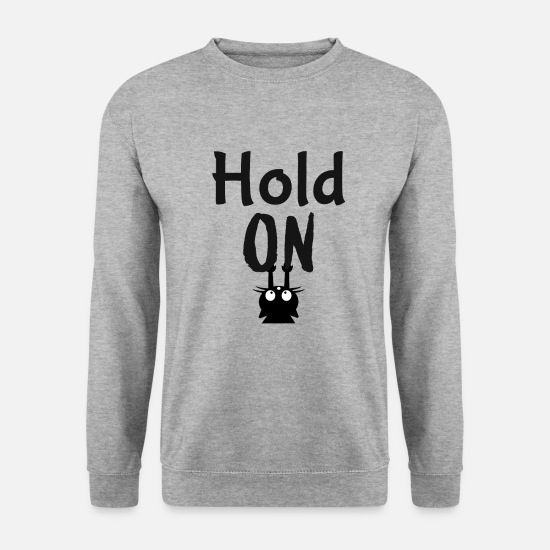 Teenager Pullover & Hoodies - Hold on Katzen T-Shirt - Männer Pullover Weißgrau meliert