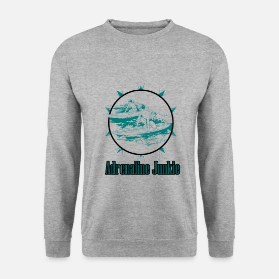 Hemp Hoodies & Sweatshirts - Adrenaline junkie - Men's Sweatshirt salt & pepper