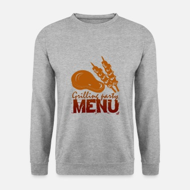 Menu Grilling party menu - Men's Sweatshirt