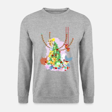 Dressing the Yule Tree - tegneseriedyr - Sweatshirt unisex