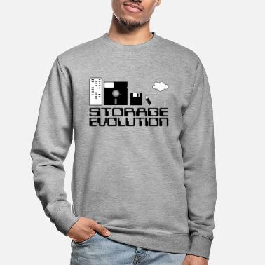 Personal Computers personal computer storage evolution - Unisex Sweatshirt