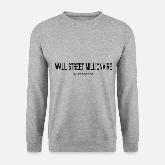 Euro Sweat-shirts - marché boursier - Sweat-shirt Homme gris chiné
