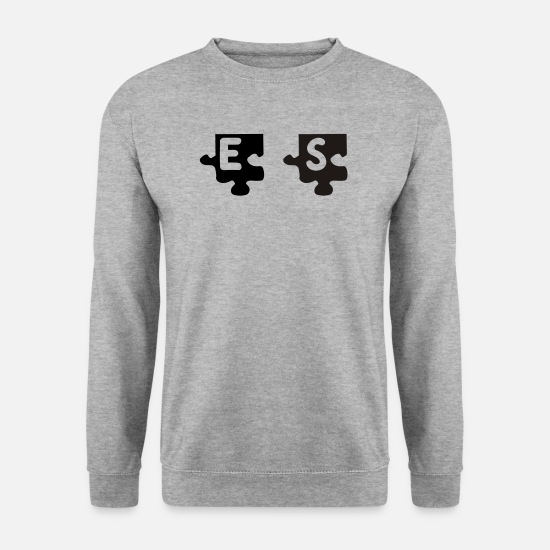 Puzzle Sweat-shirts - S tattoo puzzle 083 - Sweat-shirt Homme gris chiné