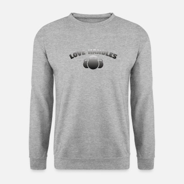Kettlebell Funny Design - Love Handles - Men's Sweatshirt