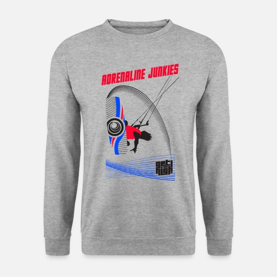 Adrenaline Hoodies & Sweatshirts - Adrenaline Junkies Light - Men's Sweatshirt salt & pepper