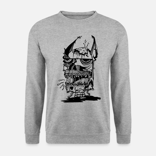 Zombie Sweat-shirts - BatZombie - Sweat-shirt Homme gris chiné