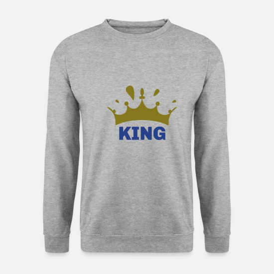 Papa Sweat-shirts - King - Sweat-shirt Homme gris chiné