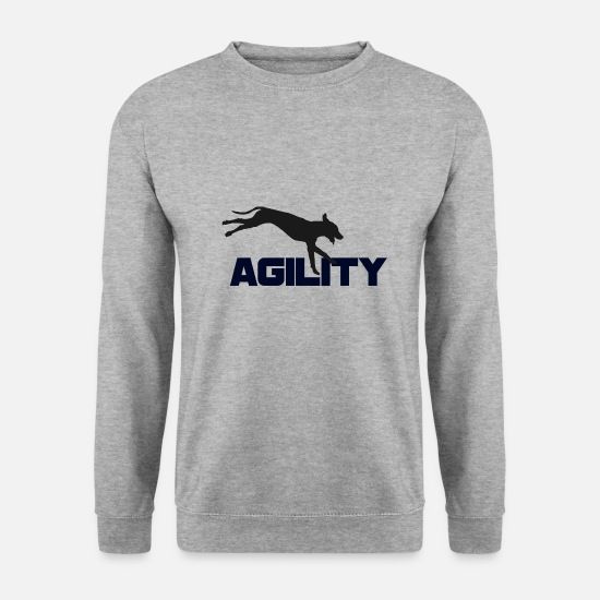 Aussie Hoodies & Sweatshirts - Agility - Men's Sweatshirt salt & pepper