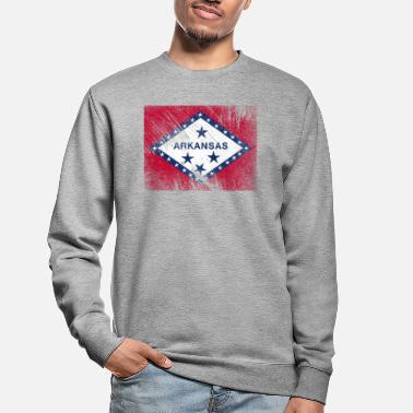 Vintage vlag van Arkansas USA - Unisex sweater