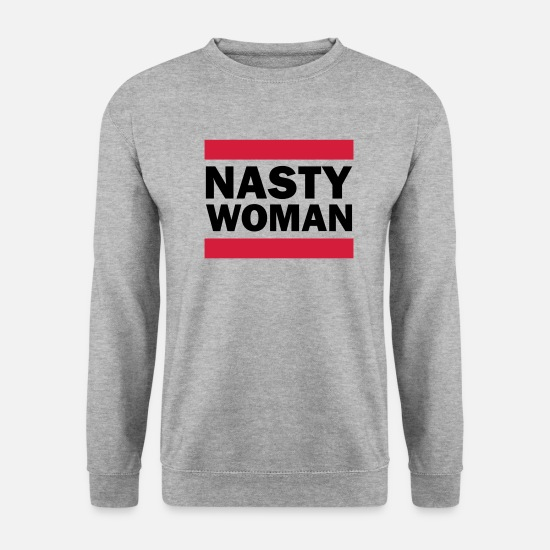 Trump Sweat-shirts - Nasty Woman - Sweat-shirt Unisex gris chiné