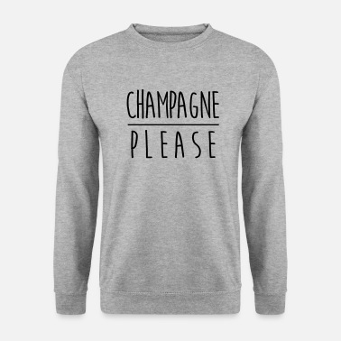 Champagne CHAMPAGNE PLEASE - Sweat-shirt Unisexe