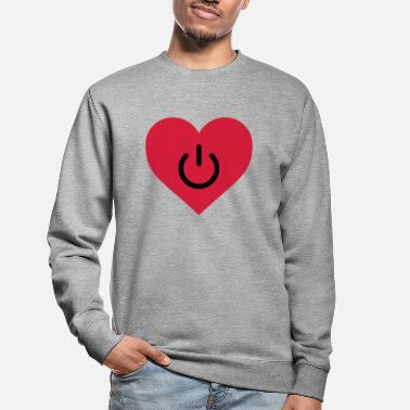 Humour power of love v2 - Unisex Sweatshirt
