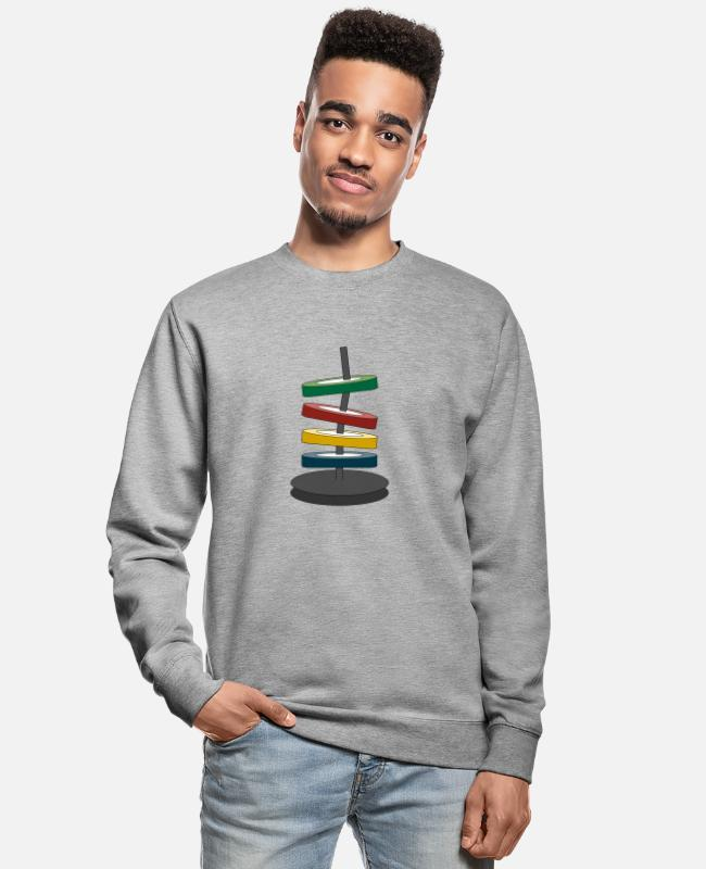 Graphic Art Hoodies & Sweatshirts - Coloured disks - Unisex Sweatshirt salt & pepper