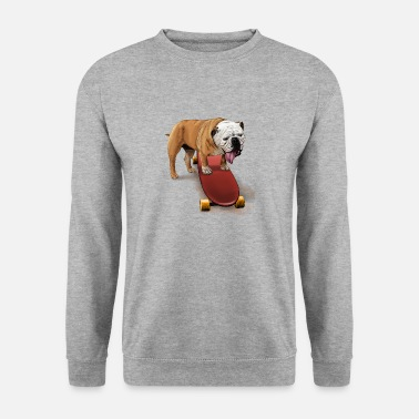 Skateboard Bulldog Skater - Men's Sweatshirt