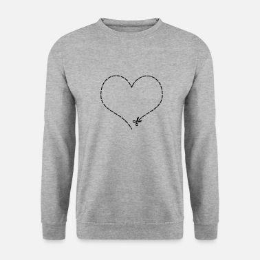 Cut Out Heart to cut out - Men's Sweatshirt