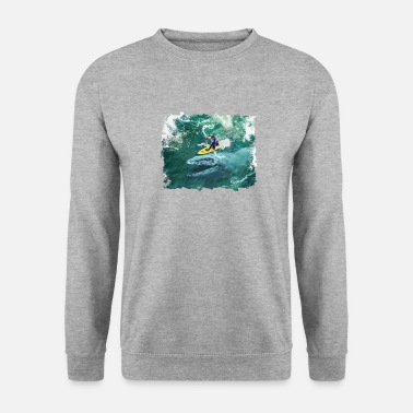 Meme Camiseta Mosasaurus In The Wave Cool Surfer - Sudadera hombre