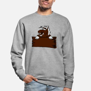 Holzschild holzschild funny comic cartoon horse wall shield t - Unisex Sweatshirt